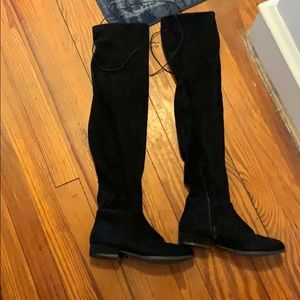 chinese laundry black thigh high boots